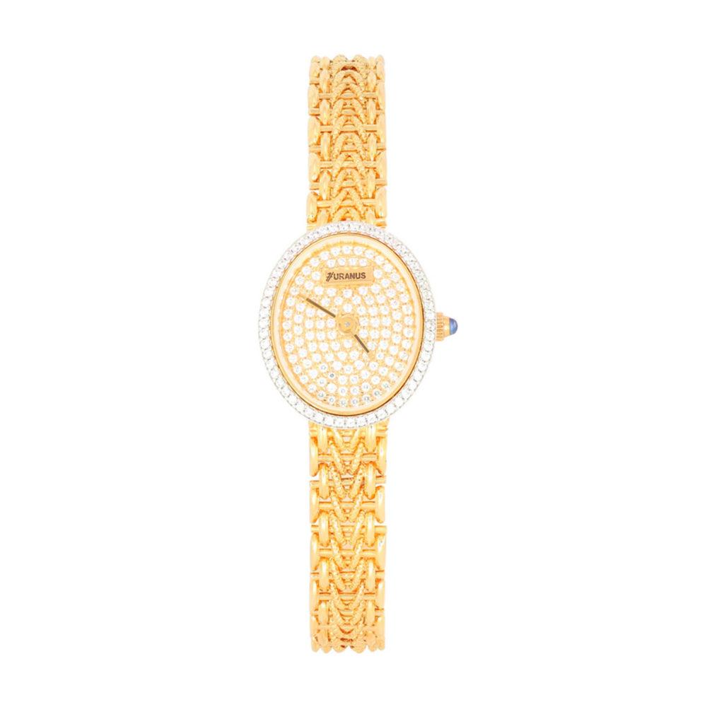 Orologio in oro donna oval