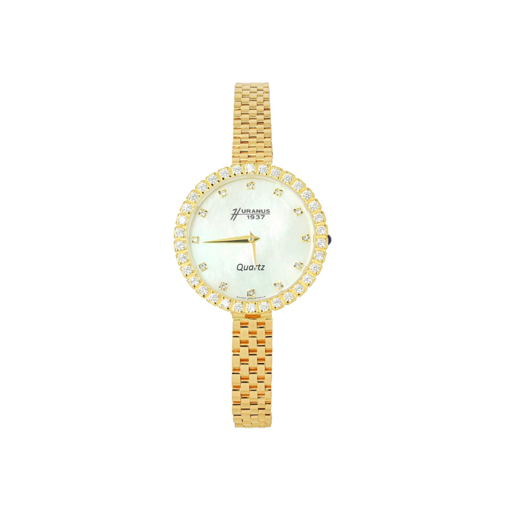 Orologio in oro donna e quadrante in madreperla