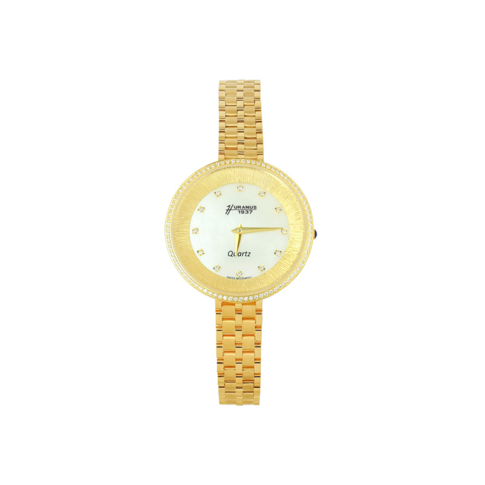 Orologio in oro donna con quadrante in madreperla