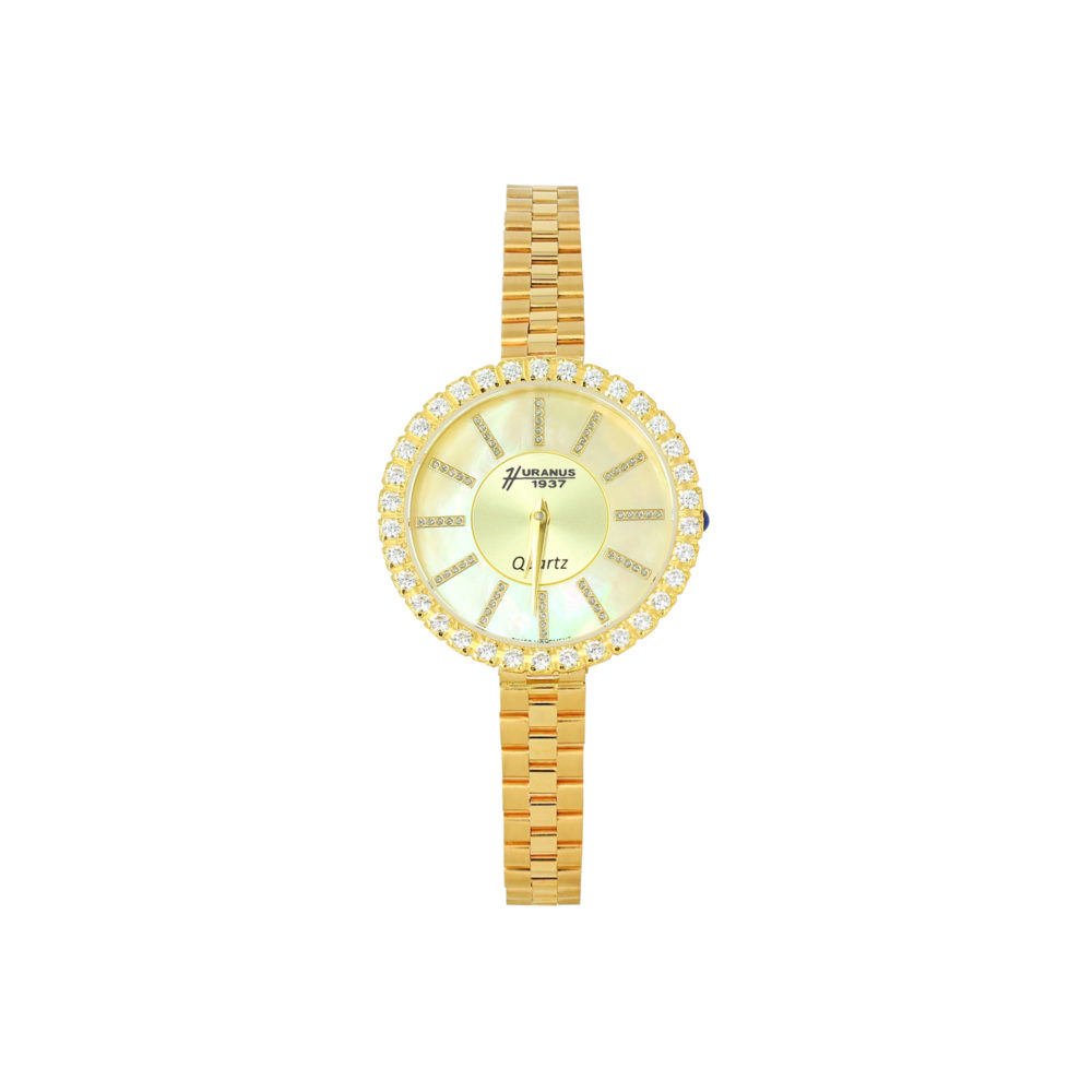 Orologio in oro donna, quadrante madreperla e giallo